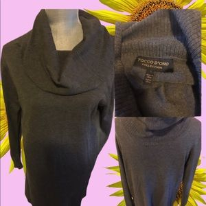 J Michel boutique Cowl neck Tunic (light weight)